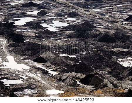 Industrial Landscape Of A Working Mine