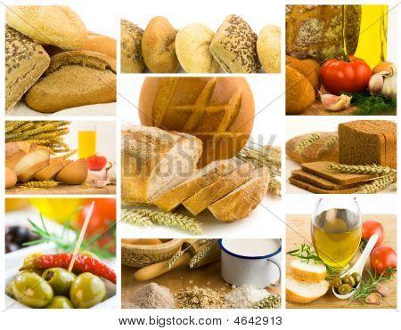 schöne gesunde Lebensmittel collage