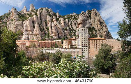Montserrat. Monastery on mountain near Barcelona, in Catalonia