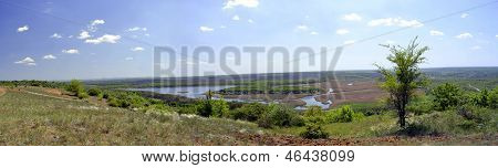 panoramic view of the river kleban-Byk