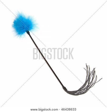 Blue Feathered Fetish Whip