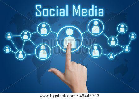 Pressing Social Media Icon