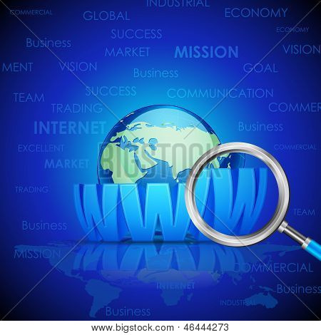 Magnifying Glass searching WWW