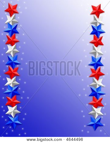 Patriotic Stars Border