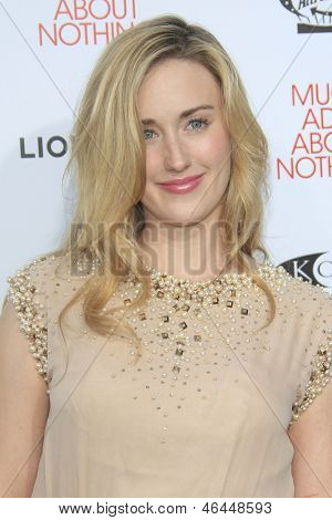 LOS ANGELES - JUN 5: Ashley Johnson at the screening of Lionsgate and Roadside Attractions' 'Much Ado About Nothing' on June 5, 2013 in Los Angeles, California