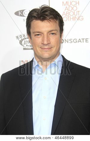 LOS ANGELES - JUN 5: Nathan Fillion at the screening of Lionsgate and Roadside Attractions' 'Much Ado About Nothing' on June 5, 2013 in Los Angeles, California