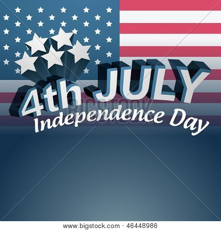 vector 4th of july text design poster