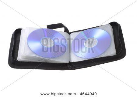 Black Compact Disk Storage Bag