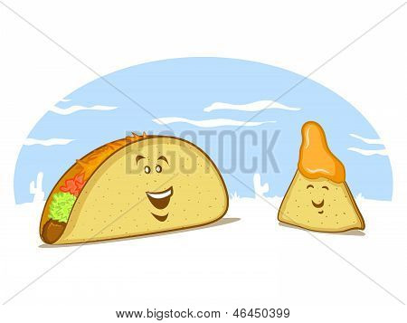 Taco and Tortilla Chip CHaracters