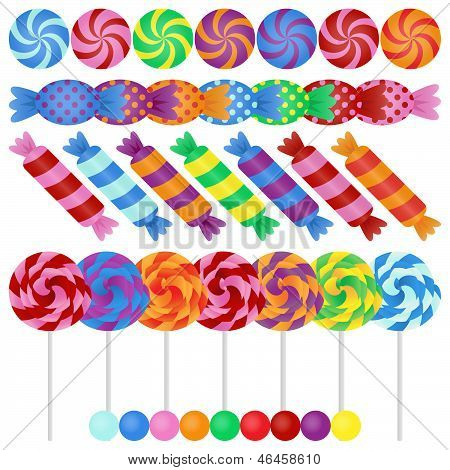 Large Vector Set of Candy - EPS10
