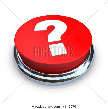 Question Mark Button - Red