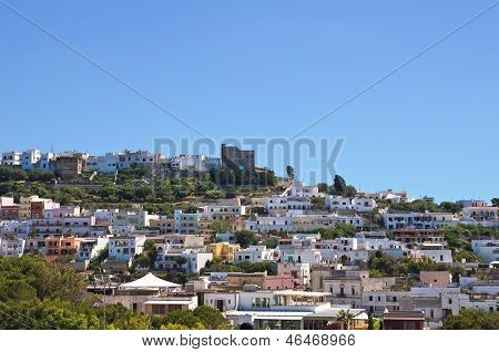 Panoramic view of Castro. Puglia. Southern Italy. poster