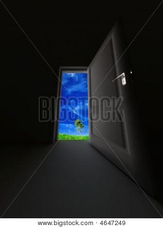 Door In A Dark Room