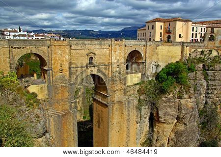 Scenic bridge in Ronda, Spain