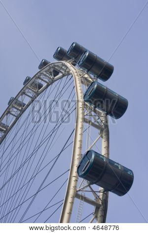 The Singapore Flyer a 540-feet high observation wheel that offers a breathtaking 360-degree view of Singapore's Marina Bay. The Flyer is mounted with 28 capsules each one the size of a bus and able to take on up to 28 riders and takes 28 minutes to m poster