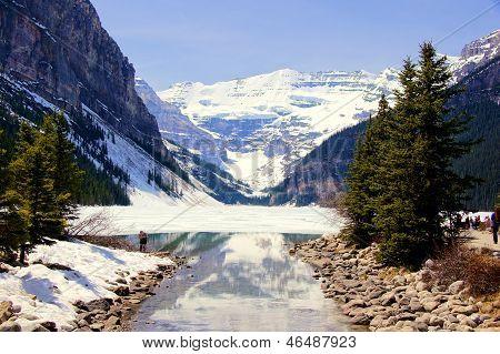 Snowy Lake Louise