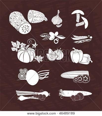 vector design set - vegetables