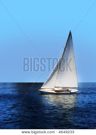 Boat Sailing Yacht Open Sea