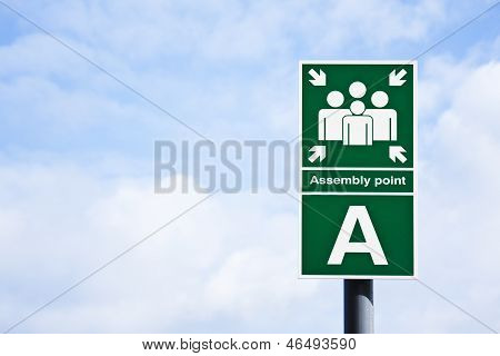 Assembly Point' Sign