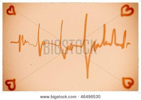 Electrocardiogram Orange Background