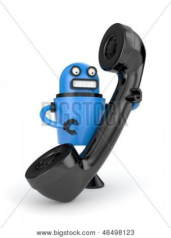 Bad robot with phone tube