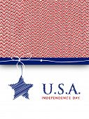 4th of July, American Independence Day background poster