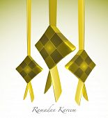 3D Muslim Ketupat. Translation: Ramadan Kareen - May Generosity Bless You During The Holy Month poster