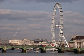 London Eye And Westminster Bridge