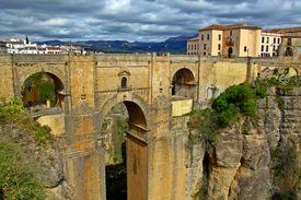 Scenic bridge in Ronda, Spain