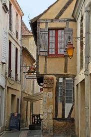 Bergerac, France circa June 2011 Old cobbled streets of Bergerac