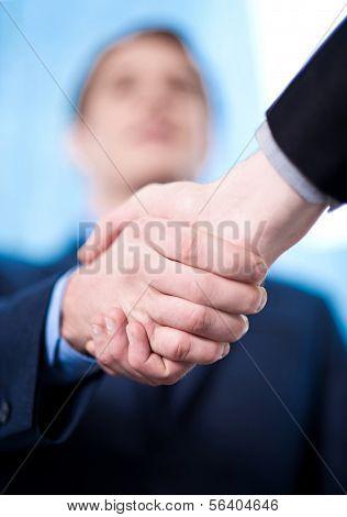 Business Handshake Among Two Corporates