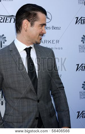 PALM SPRINGS - JAN 5:  Colin Farrell at the Variety's Creative Impact Awards And 10 Directors to Watch Brunch at Parker Palm Springs on January 5, 2014 in Palm Springs, CA