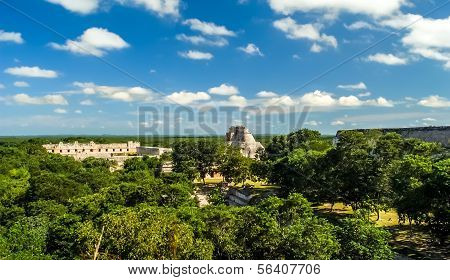 View at Uxmal complex