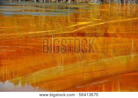 Mine Water Contamination In Geamana, Near Rosia Montana, Romania