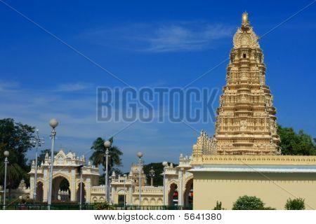 südindische Tempel in Mysore Palast.