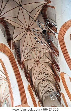 Detailed Ceiling In Torun Cathedral, Poland