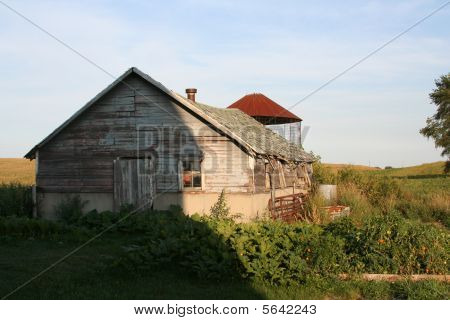Old empty farm building