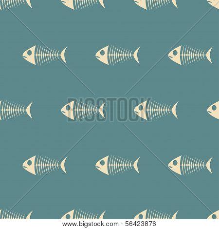 Fish Sceletons Pattern