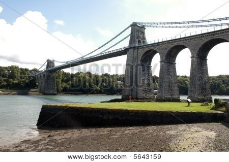 The Anglesey Menai Bridge