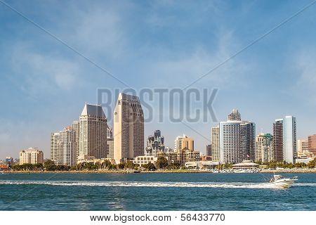 Downtown City of San Diego, Southern California USA