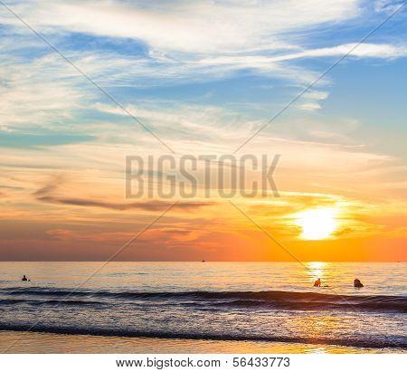 San Diego Sunset at La Jolla Shores San Diego, Southern California USA