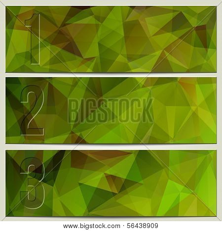 Vector infographic enumerated modern presentation banner set