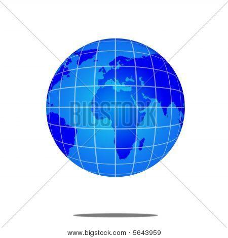 Blue World Globe  : Europe, Africa