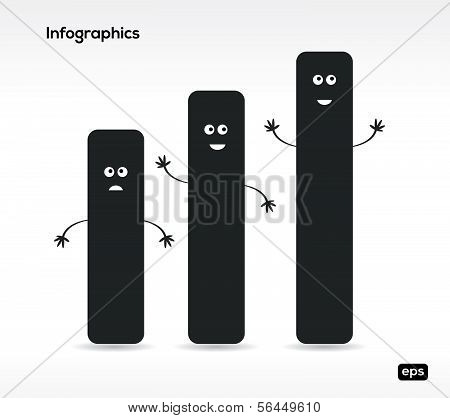Funny Infographic elements. Vector illustration