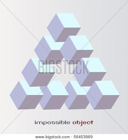 Abstract design,3D impossible object, Vector illustration. poster