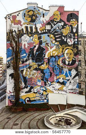 Graffiti For Fryderyk Chopin In Warsaw