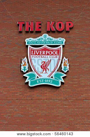 Liverpool, Uk, April 21St 2012. Liverpool Football Club Crest,