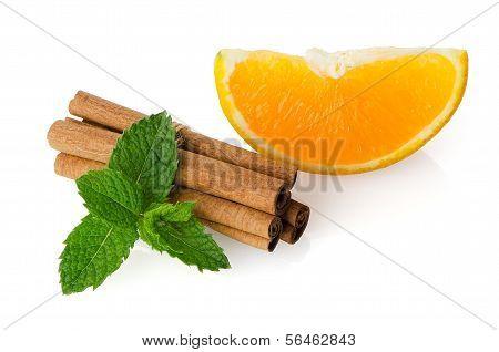 One Orange Fruit Segment