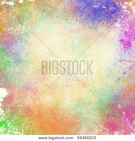 Abstract Splatter Paint Background