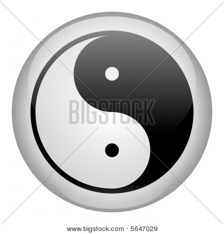 Yin-yang symbol of harmony, balance and opposite poster
